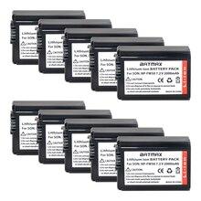 Batmax 10 יחידות 2000 mah NP FW50 NP FW50 סוללה נטענת עבור Sony NEX 7 NEX 5R NEX F3 NEX 3D אלפא אלפא a5000 a6000 7 a7II