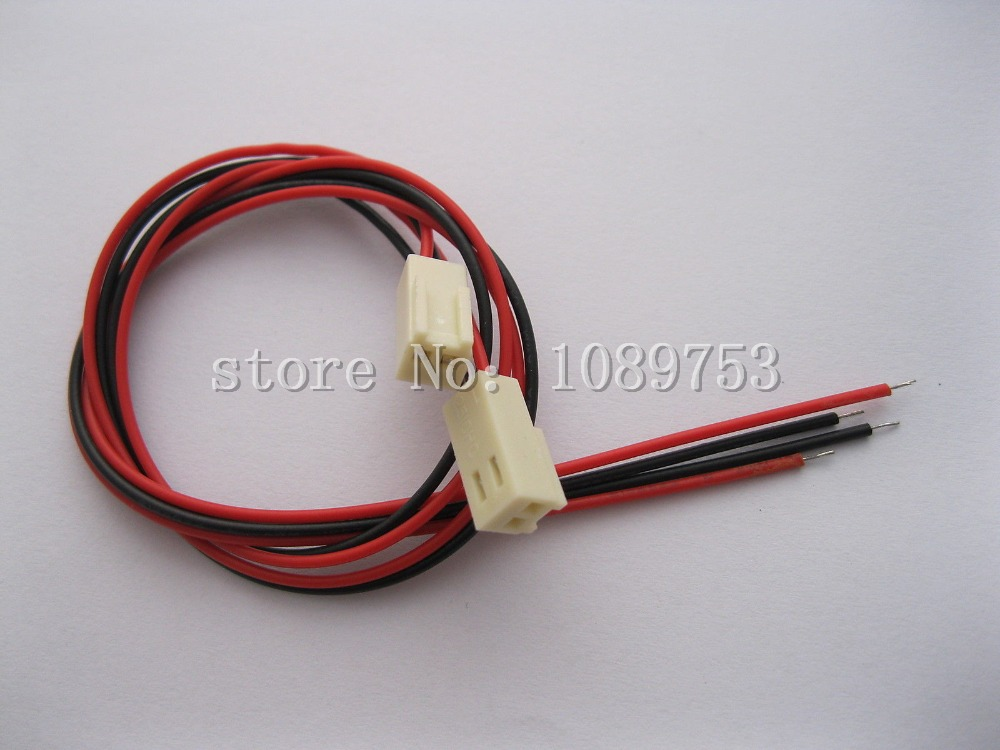 20 pcs 2510 Pitch 2.54mm 2 Pin Female Connector with 200mm Leads Cable rib knit tights