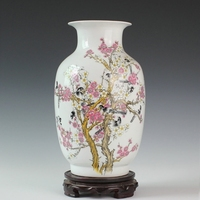 Jingdezhen ceramic powder caici vase ceramic porcelain bottle gourd ceramic crafts
