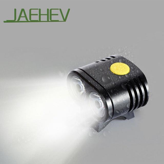 Jaehev Waterproof Cycling Lights Mtb Road Bike Front Light Usb Led