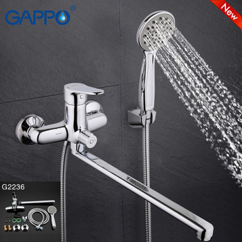 GAPPO TOP Quality handheld bathtub mixerwith long spout single in hand Wall-mount bathroom sink faucet torneira bano GA2236