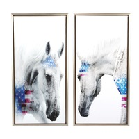 2Pcs Set Modern Oil Painting Art Horse Canvas Prints Painting Wall Pictures For Living Room Decorative