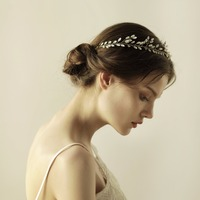 Women Rhinestones Headbands Handmade Hair Wear HairBands Wedding Accessories Bride Headdress Gold/Silver Floral O858