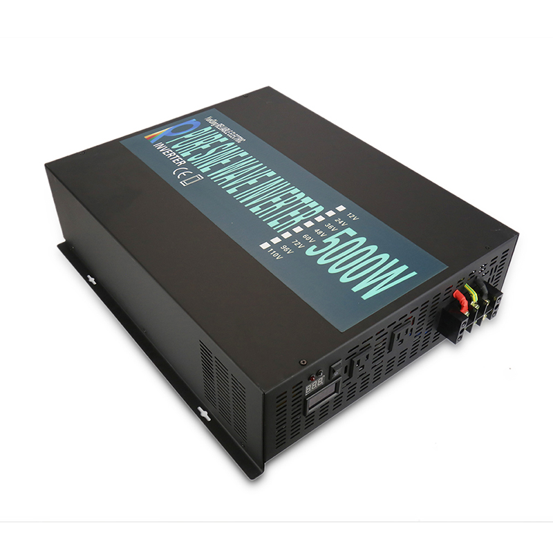 Pure Sine Wave <font><b>Solar</b></font> Inverter 24V 230V <font><b>5000W</b></font> Power Inverter <font><b>Solar</b></font> <font><b>Panel</b></font> Generator 12V/24V/48V DC to 110V/120V/220V AC Converter image