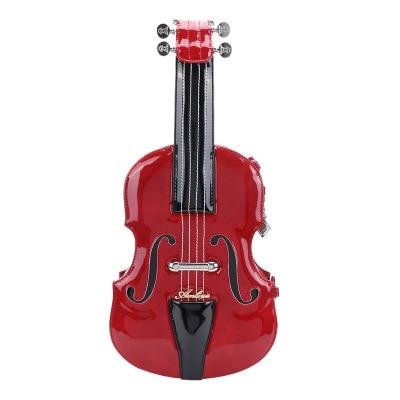 2018 Retro College Style Claret Red Violin Single Shoulder Bag Women Black Rock Messenger Bag Lady Street Brown Leather Handbags