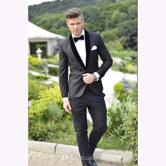 Custom Design Groom Tuxedos Black Lapel Best costume homme ...