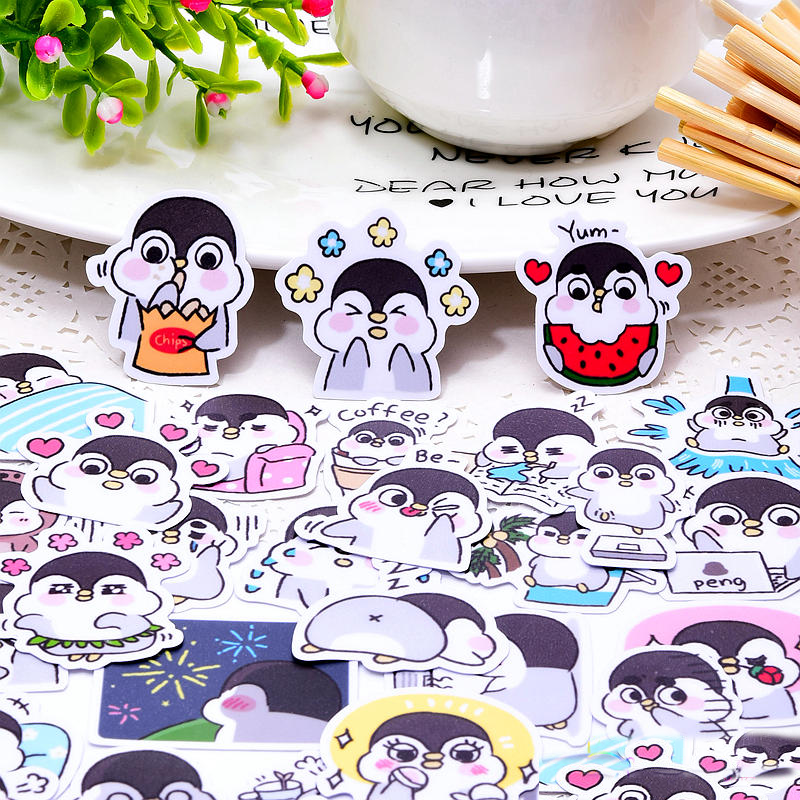 40pcs Cute Kawaii Self-made Baby Animals Penguin Stickers/ Phone Stickers /Decorative Sticker /DIY Craft Photo Albums/Waterproof