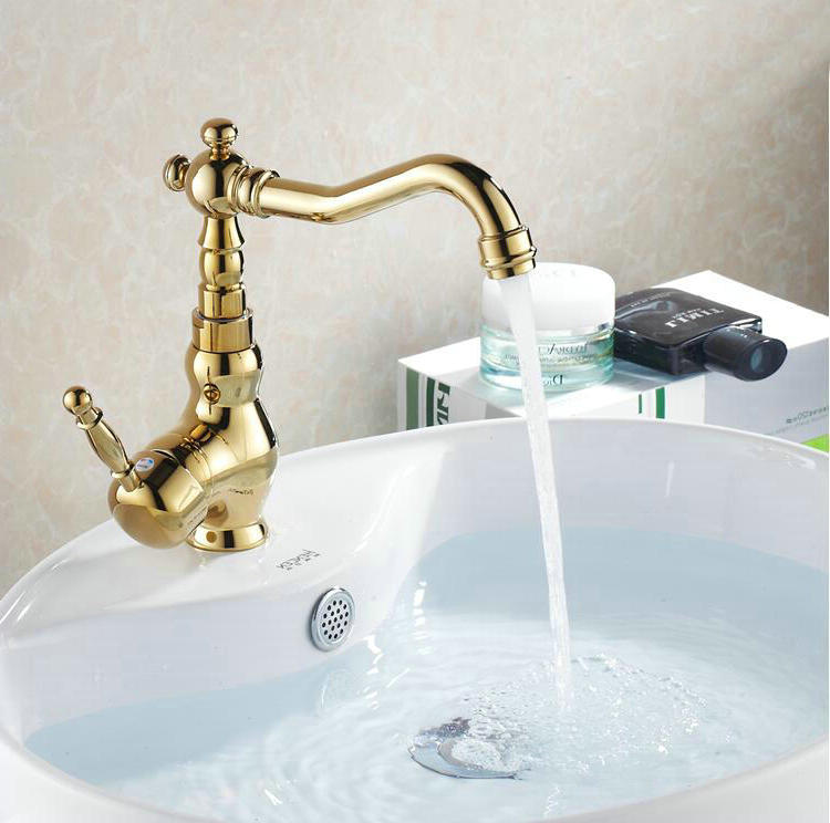 retro kitchen faucet free shipping retro golden kitchen faucets swivel bathroom basin faucets sink mixer tap brass 8624