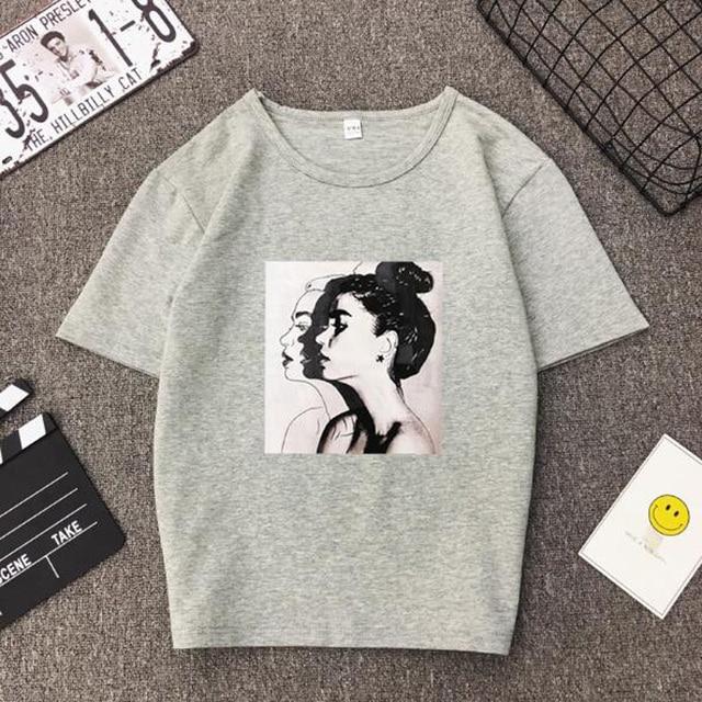 Girls Print Short Sleeve O Neck Cotton Spandex Top Slim Fit Soft T-shirt 6
