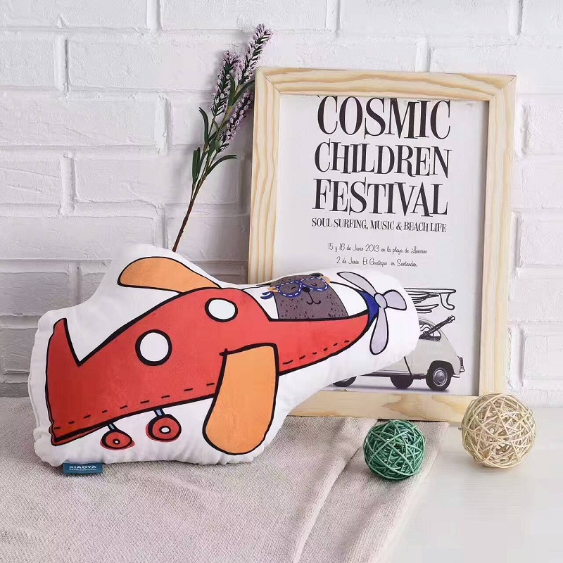 Cartoon Cloud House Mountain Plane Tree Shape Cushion Pillow Baby Calm Sleep Stuffed Toy Nordic Kids