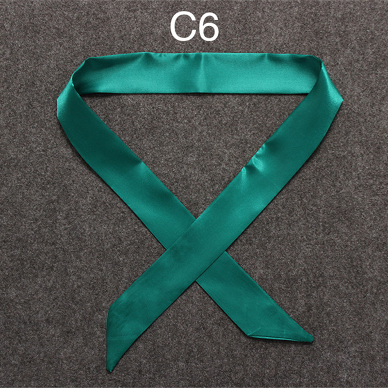 HTB1Bh4ZoNHI8KJjy1zbq6yxdpXaQ - 100X5cm 2018 New Scarf Luxury Brand Small Solid Color Silk Scarf Women Head Scarf Headwear Handle Bag Ribbon Strap Scarves