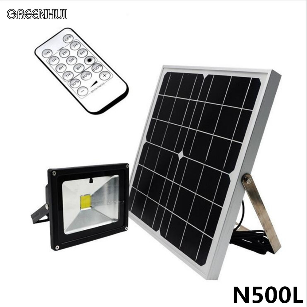 7pcs newest 20w cob led solar floodlight led spot light remote 7pcs newest 20w cob led solar floodlight led spot light remote remote control dimming timing outdoor waterproof ip65 for path aloadofball Image collections