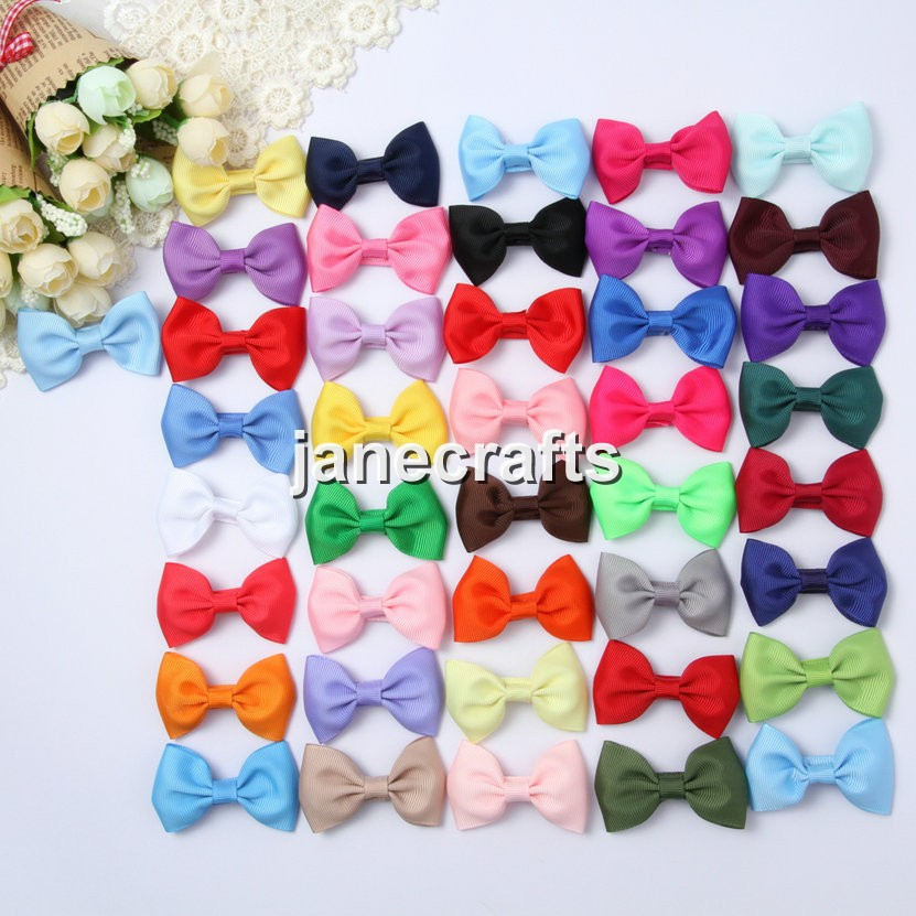41pcs/Lot 2.5 Kids Girl Hair Bow Cute Grosgrain Ribbon Hairbow for Headband Hair Accessories Without Clips Drop Shipping 10pcs lot high quality hair band with grosgrain ribbon flower for girls handmade flower hairbow hairband kids hair accessories
