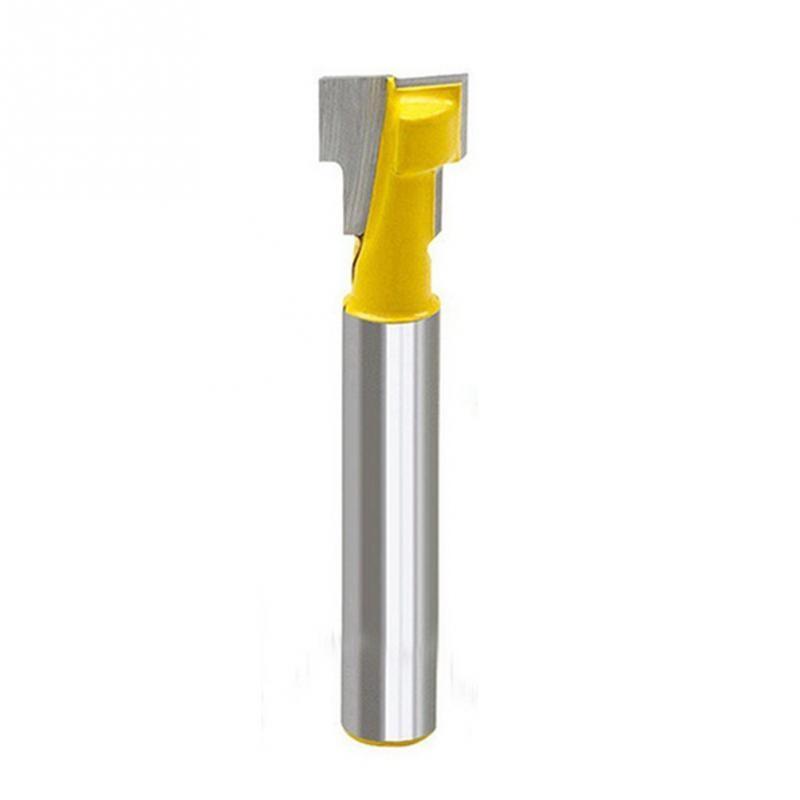 цена на 3/8'' T-Slot Cutter 1/4'' Shank Steel Handle Milling Woodworking Router Bit brand new high quality