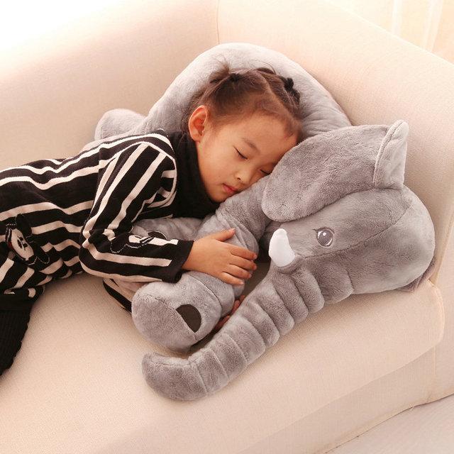 40/60cm Cartoon Plush Elephant Toy Kids Sleeping Back Cushion stuffed Pillow Elephant Doll Baby Doll Birthday Gift for Kids