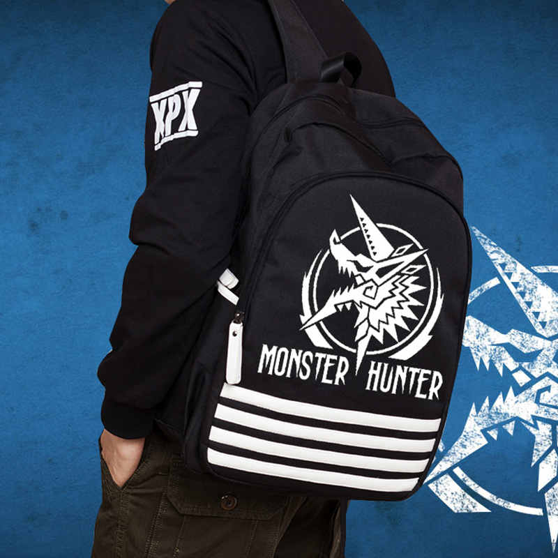 3c3d2d0936 Anime Monster Hunter Oxford Luminous Shoulder Bag Cartoon Rucksack School  Bags Schoolbag Daypack Free Shipping-in Backpacks from Luggage   Bags on ...