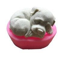 2018 Новый 3D Спящая милая собака глина плесень дизайнерские формы для гипса DIY ручной работы бетонные формы Полимерная глина формы бетонные ф...