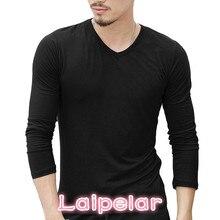 2018 Summer Mens Long Sleeve T Shirt Solid Color Cotton tshirt Slim Fitness Causal T-shirt Male Tops Brand Clothing 3XL Laipelar