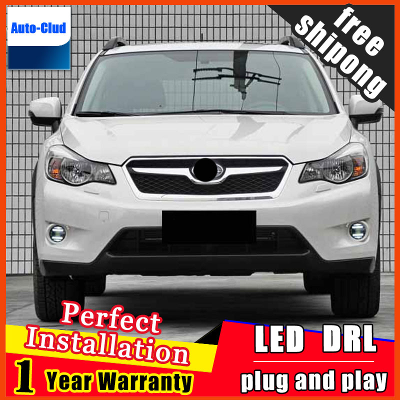 Car-styling LED Fog Light For SUBARU XV 2013 - 2016 LED Fog Lamp With Lens And LED Day Time Running Ligh DRL 2 function система освещения for all car 2 7w 18 led drl