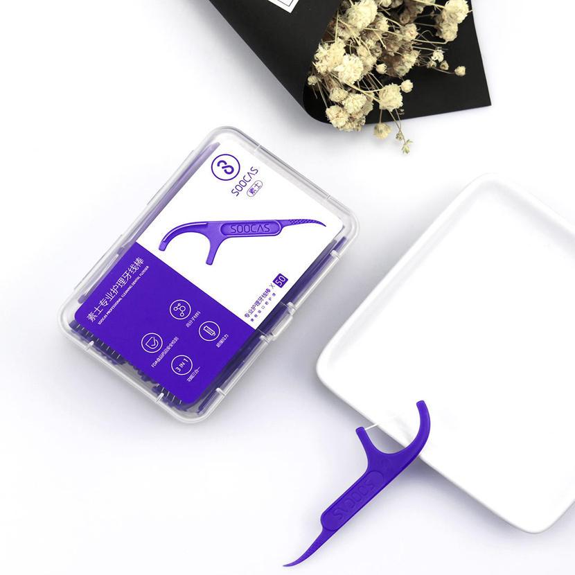 300pcs Xiaomi Soocas Professional Dental Flosser Ergonomic Design FDA Testing Food Grade Dental Foss Pick Teeth-Tooth Toothpicks