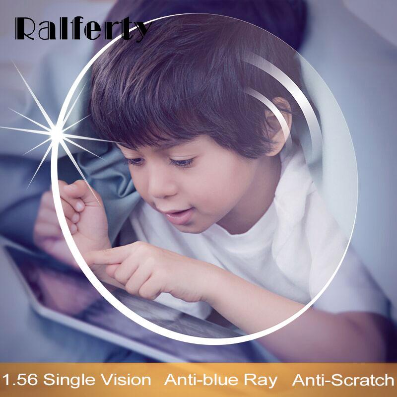 Ralferty 1.56 Anti Blue Light Prescription Glasses Lenses Radiation Protection Optical Myopia Lens Clear Diopter Thin HMC 0-4.0D