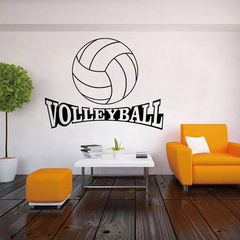 Popular volleyball decorations buy cheap volleyball for Sports decals for kids rooms