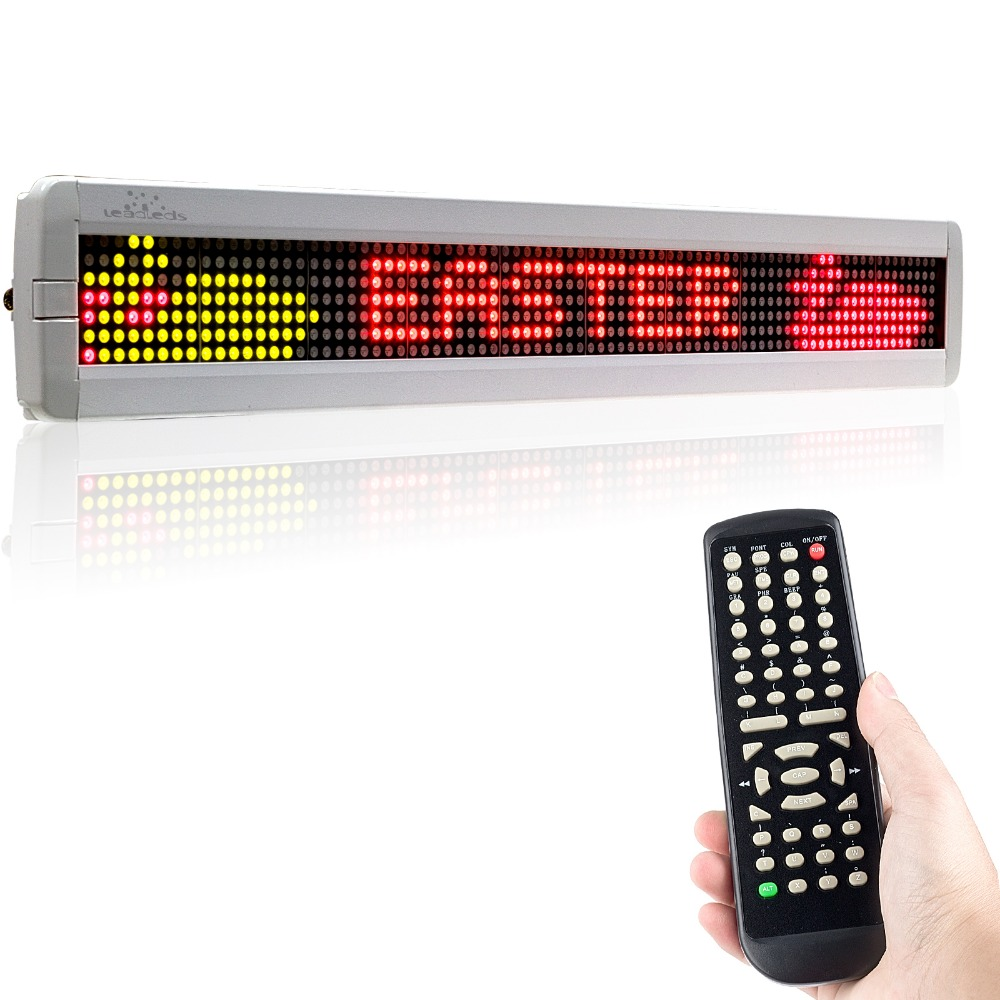 2018 New 66CM White Border Remote 3color Animation LED sign Programmable Scroll Message Board for commercial Automotive Store