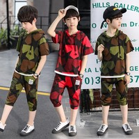 Boys Set Clothes Summer Sets patchwork Kids Clothing Tracksuit Kids Boys Brand Teenage Boy Clothing Size 6 10 12 14 15 Year