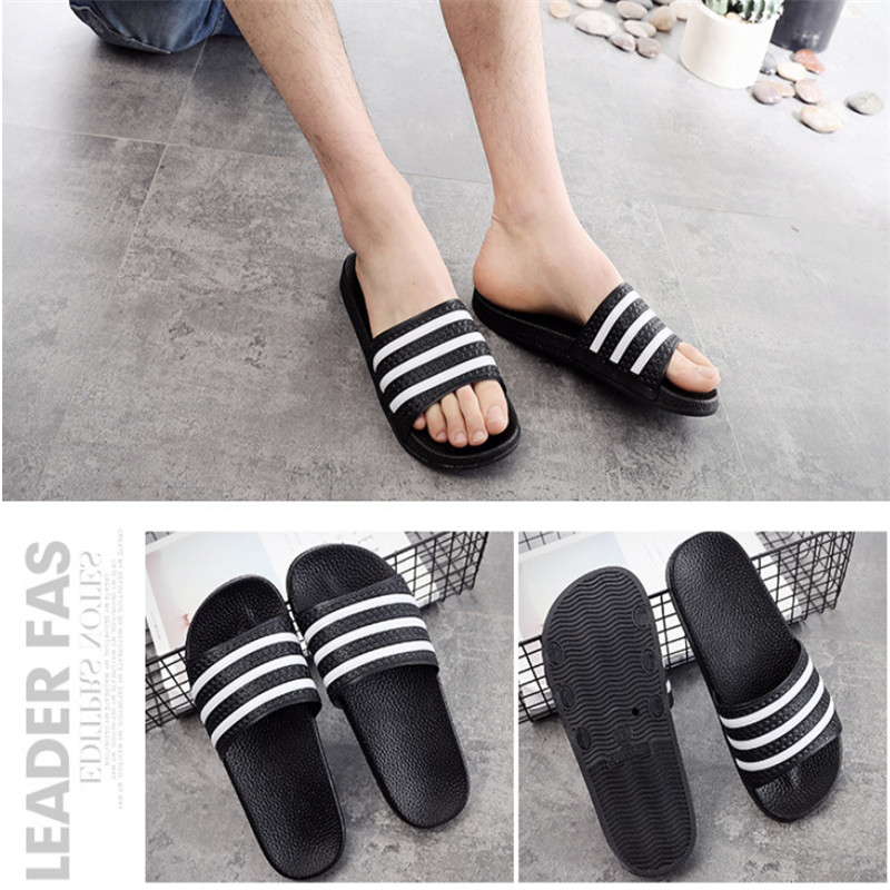 Teen Boys Girls Sandals Shoes Teenage Kids Summer Slippers Man Woman Beach Bath Shoes Home Slippers Casual Stripped PVC Shoes 14