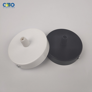 Black/White 80MM Ceiling Plate Iron Pendant Lamp Bases DIY +Lock Wire Rubber Well Lamp Round 8CM Base 2 4 10pcs set diy parts edison light pendant lamp part of the ceiling plate d68mm small iron canopy diy pendant ceiling mount