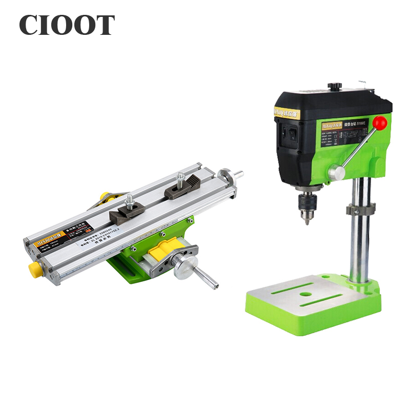 Multifunctional Working Table X Y-axis Adjustment Table Tools + Bench Drill Vise + Flat Tong For Drilling Milling Machine milling drill press bench 580w stroke 60mm clamping range 1 5 13mm 4000rpm high speed diy drilling mill machine