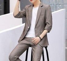 цена на Summer Suits Men 2019 Short Sleeve Dress Mens Wedding For White Sprite Groom Suit Slim Fit Clothing Red Two Piece Set Coat Pants