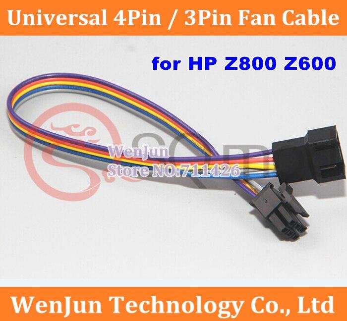 Offre spéciale câble de ventilateur universel 4pin/3pin en fil 24AWG, ligne de Modification de mémoire/ventilateur pour HP Z800 Z600