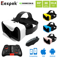 "VR Shinecon III 3D Glasses Head-Mount Google Cardboard Virtual Reality Mobile Video Movie VR Helmet for 4.7-6.0"" Phone + Gamepad"
