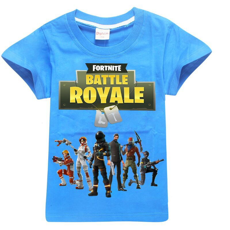 Boys Kids Clothes T shirts For Boys Cotton Summer Tops Fortnite Battle Royale Legend Game Pattern Tops Baby Girl clothes 6-14y
