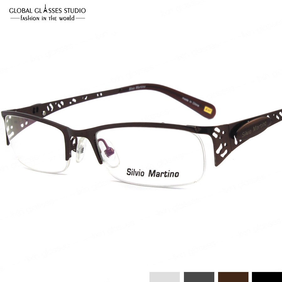 Half Frame Glasses Brown : Aliexpress.com : Buy Fashion Lady Hollow Design Half Frame ...