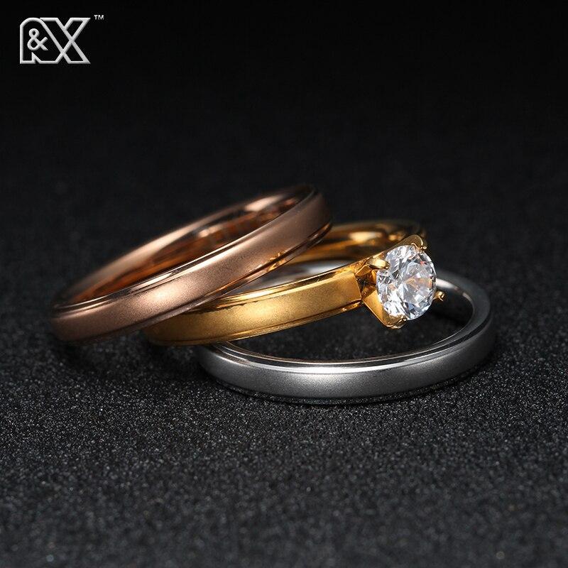 R&<font><b>X</b></font> Popular Brand 6mm 3Pcs Ring Set For Women With Austrian Crystal Stellux Zirconia Include <font><b>3</b></font> Size 6 / 7 / <font><b>8</b></font> / <font><b>9</b></font> / 10 Jz5900