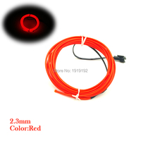 AC110 220V 2.3mm 15Meters 10 Colors Choice EL wire House Festival Party decorations flexible neon glowing LED light rope tube