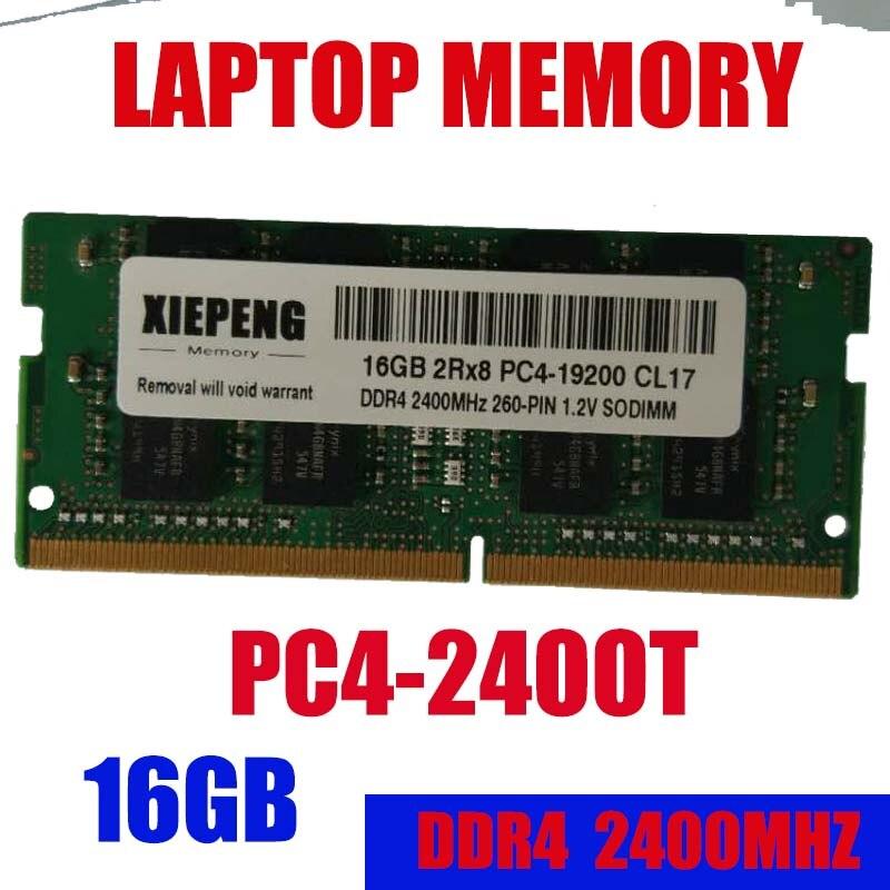 16 GB 2Rx8 PC4-19200S 2400 MHz DDR4 16 gb 2400 T mémoire d'ordinateur portable 16G pc4 19200 ordinateur portable 260-PIN 1.2 V SODIMM RAM