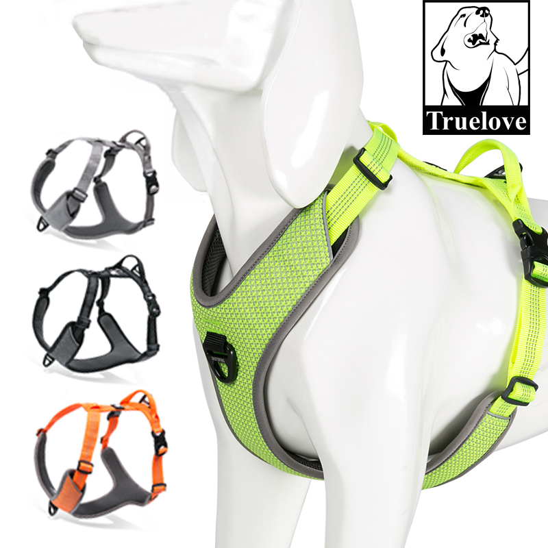 Truelove Dog Harness Reflective No Pull Small Medium Large Vest Quick Adjustbale Matching Leash Collar Training Running TLH6071Truelove Dog Harness Reflective No Pull Small Medium Large Vest Quick Adjustbale Matching Leash Collar Training Running TLH6071