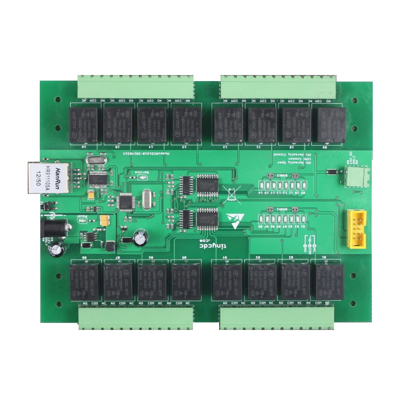 10A 16CH relay modules board for network control with TCP/IP / relay remote control board , mobile phone10A 16CH relay modules board for network control with TCP/IP / relay remote control board , mobile phone