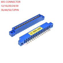 3 шт. 805 ленточный соединитель, 3,96 мм Шаг 12/16/20/24/30/36/44/56P/72 pin PCB монтажный Разъем для карты 16P 20P 30P 36P 44P