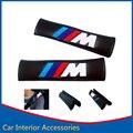 2X Styling Car Cubierta Del Cinturón de seguridad Seguridad de Fibra de Carbono///M de Hombro Pad para BMW E90 E91 E92 E93 X5 X6 M3 E60 E61 E63 E64 M5 F10 F30