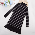 Children's Garment Girls Winter New Pattern Knitting Rendering Long Fund Child Leisure Time Dress Kids Clothing