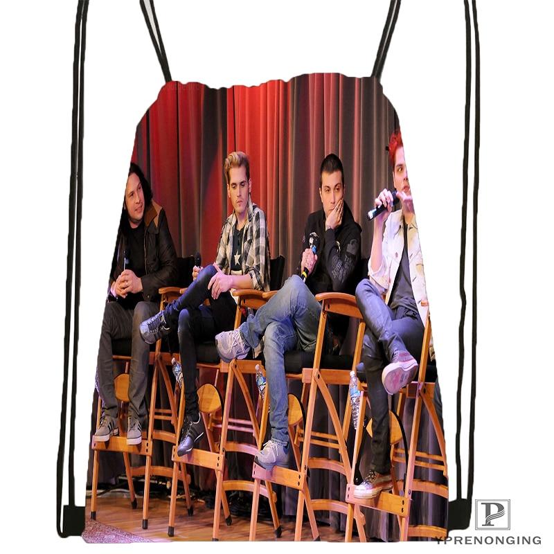 Custom Gerard Way My Chemical Romance Drawstring Backpack Bag Cute Daypack Kids Satchel (Black Back) 31x40cm#180531-04-24