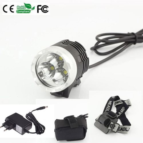 3800 lm 3x CREE T6 waterproof headlamp LED Front Bike Bicycle Light Headlight Light +6400mAh Battery + Charger waterproof 8000 lm 4x xml t6 led cycling bicycle bike front tail light lamp headlight headlamp 6400mah battery pack charger