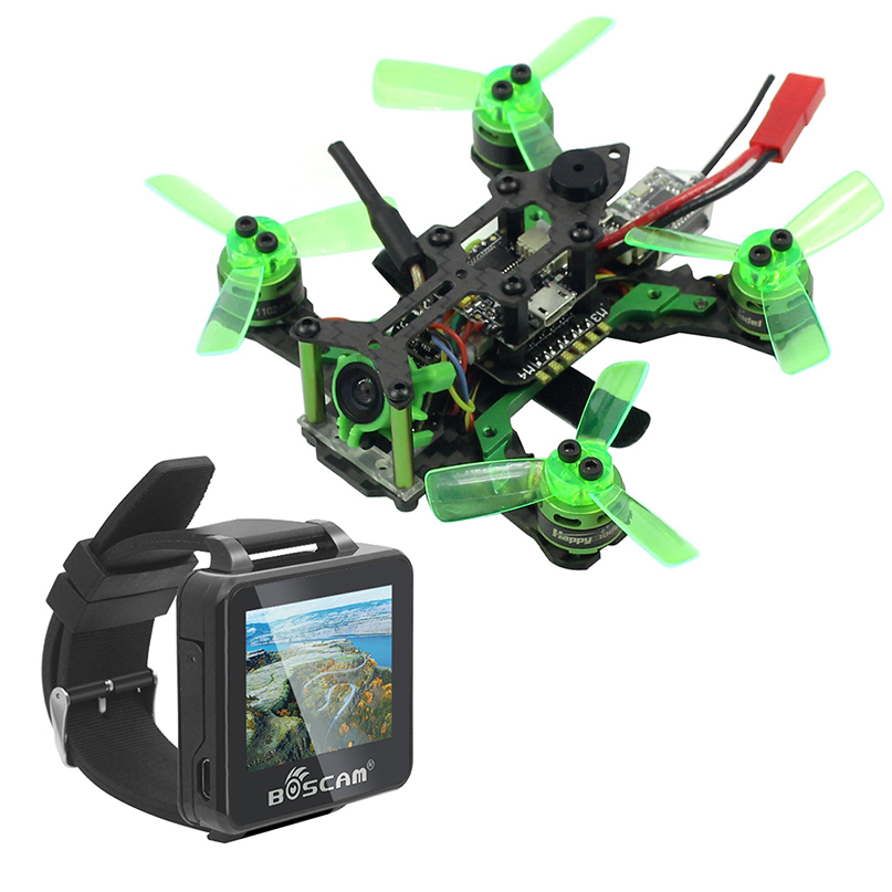 Mantis 85 Micro FPV Racing Drone with Frsky / Flysky Receiver F4 Flight Controller with FPV Watch TFT Monitor BNF Version happymode mantis 85 micro fpv racing drone bnf with frsky d8 flysky 8ch support specktrum dsm x receiver accessory