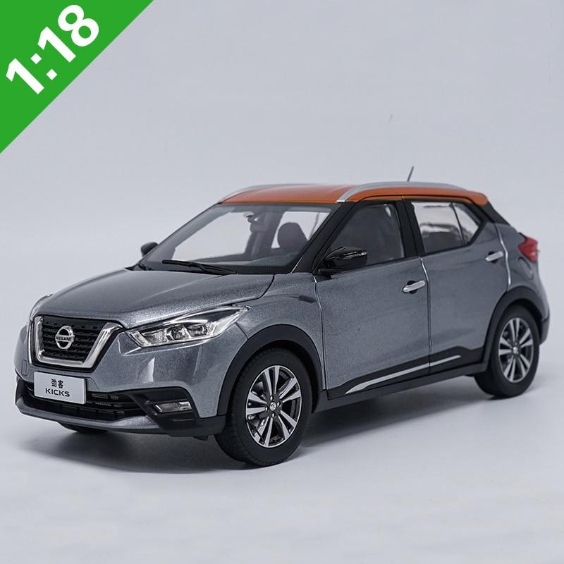 1:18 Nissan KICKS 2017 Gray Alloy Diecast Metal Car Model