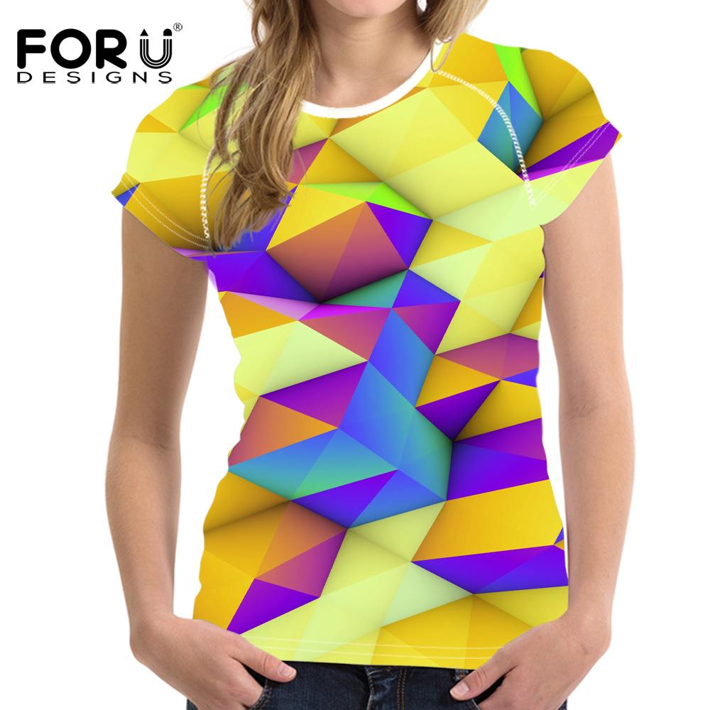 FORUDESIGNS Bright Mixed Color T-Shirt til kvinder Stilfuld Lady - Dametøj - Foto 5
