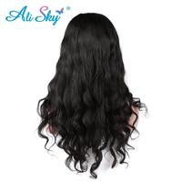 Body wave Full Lace Human Hair Wigs Malaysia Remy Hair 150% Density Pre Plucked Natural Black Swiss Lace Wig Ali Sky Hair